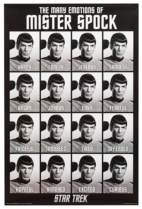 The Many Emotions of Spock Poster