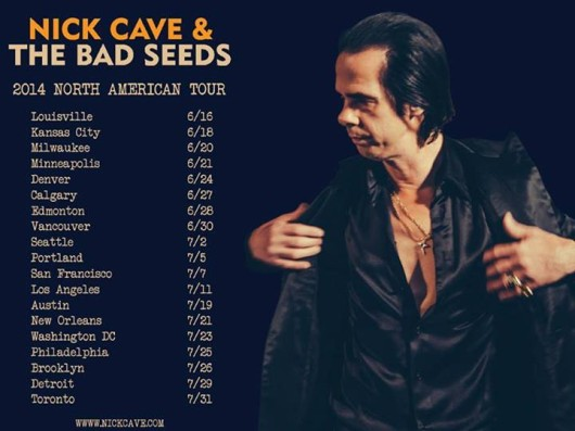 Nick Cave & The Bad Seeds North American tour